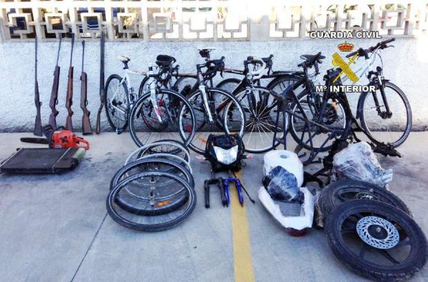 Die von der Polizei sichergestellten Fahrräder.