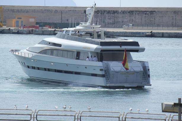 Die Königsfamilie wird hier nicht mehr an Bord zu sehen sein: Die auslaufende Fortuna.