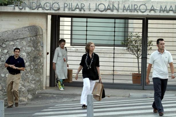 Sie ist schon da: Königin Sofía kam am Donnerstag nach Mallorca.