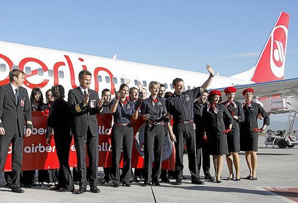 Air Berlin, hier 2009 bei der 30-Jahre-Feier in Palma, bleibt auch im kommenden Winter Marktführer auf Mallorca.