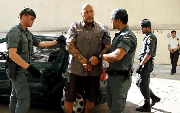 Frank Hanebuth bei seiner Festnahme.