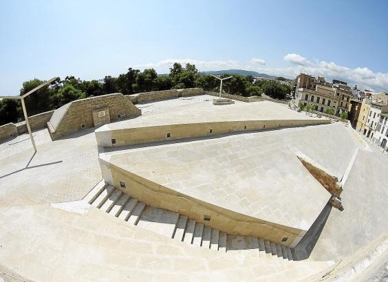 Die künftige Esplanade an der Stadtmauer von Palma, gleich beim Gesa-Stadtstrand.