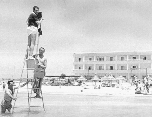 Das Hotel Riu San Francisco in den 1950er Jahren im Rahmen einer einer Foto-Session.