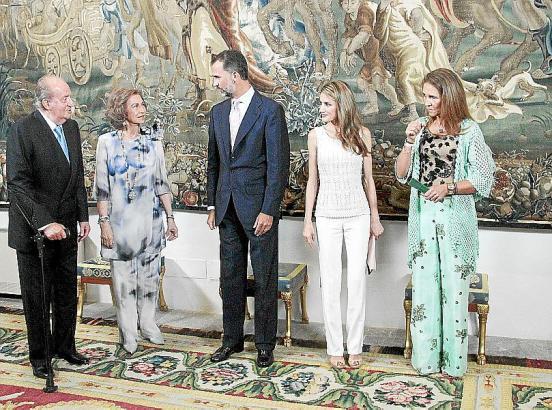 Szenen des königlichen Mallorca-Sommers: Empfang für Insel-Autoritäten im Almudaina-Palast.