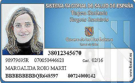 So sieht sie aus, die neue Versichertenkarte auf Mallorca. Man benötigt sie, um Zugang zum staatlichen Gesundheitswesen zu bekom