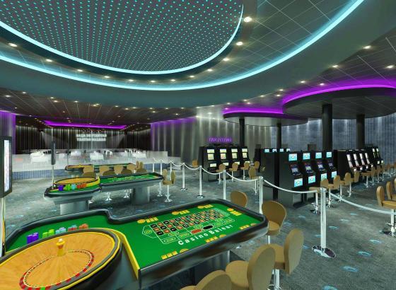 """Neuer Hotspot: Virtueller Blick auf die Roulette-Tische im """"Gran Teatro Casino Balear""""."""