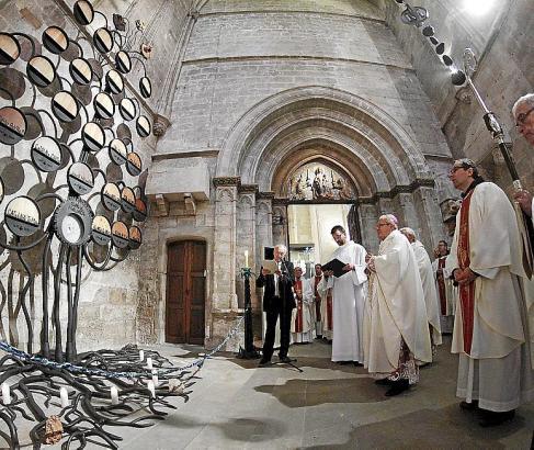 Mallorcas Bischof Javier Salinas gedenkt Junípero Serra.