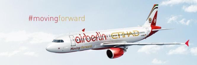 Das gemeinsame Design von Air Berlin und Etihad.