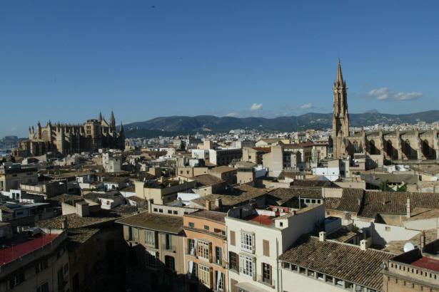 Die Altstadt von Palma aus der Vogelperspektive.