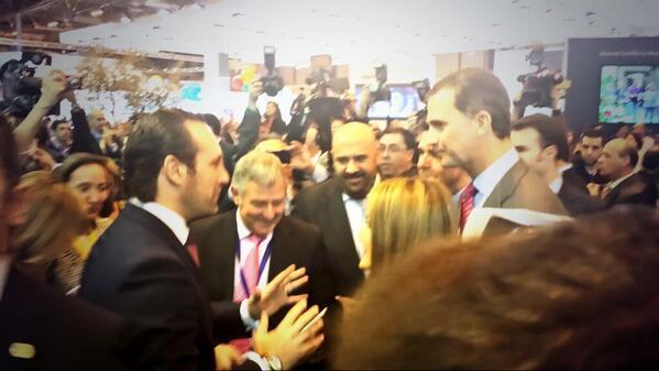 Das spanische Prinzenpaar Felipe und Letizia haben am Mittwochvormittag bei der Eröffnung der Reisemesse Fitur in Madrid auch de