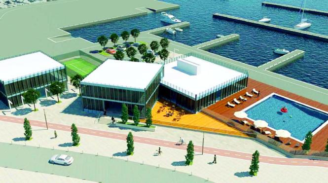 Den Plänen zufolge würde der Sporthafen nach dem Ausbau so aussehen.