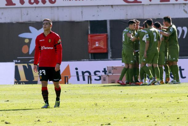 Enttäuschung: Mallorcas Álex Moreno nach dem Führungstreffer für Gijón.