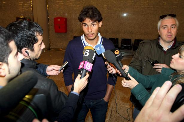 Vor seinem Abflug sprach Nadal am Flughafen von Palma mit Medienvertretern.