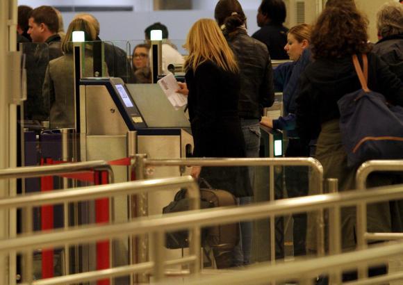 Lange Warteschlangen beim Security-Check gab es am Sonntag an Palmas Flughafen.