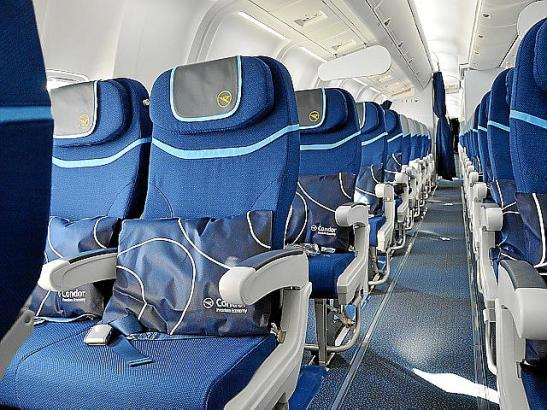 "Neue Kabine der ""Premium Economy Class"" bei Condor."