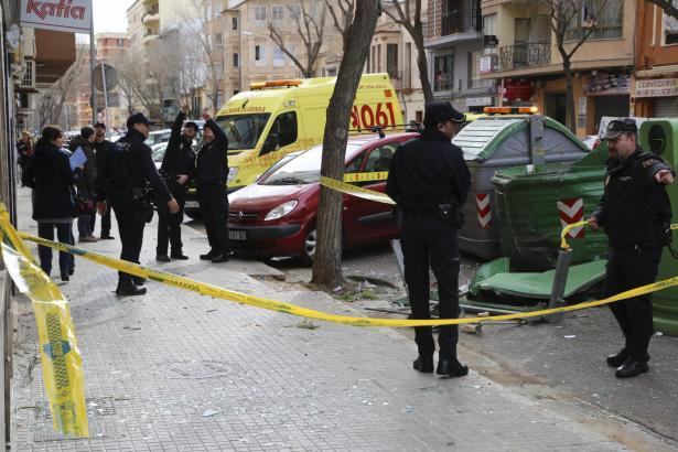 Die Explosion in dem Müllcontainer in Palma forderte vier Verletzte