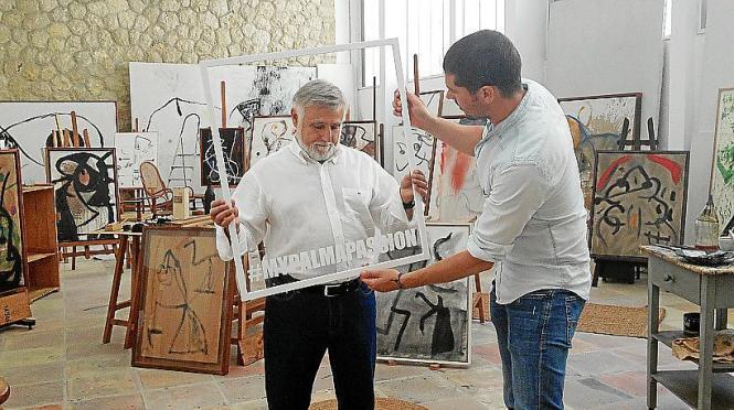 Passion for Palma – so hieß eine pfiffige Image-Kampagne auf Plakatwänden. Ein Motiv entstand in der Miró-Stiftung in Calamajor.