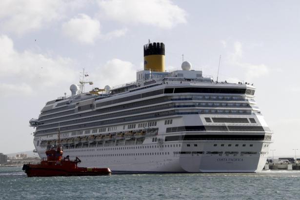 """Die """"Costa Pacifica"""" hatte Probleme bei der Fahrt in den Hafen von Palma."""