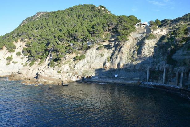 Die Bucht von Banyalbufar ist eine der schönsten Calas an der Westküste Mallorcas.