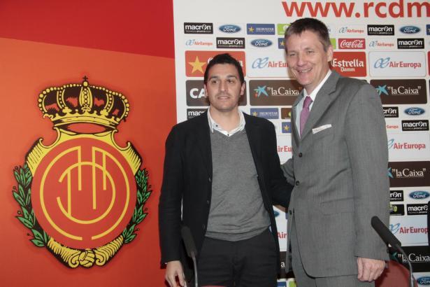 Die beiden bisherigen Bevollmächtigten von Real Mallorca: Tolo Martorell und Michael Blum (r.).
