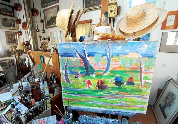 Als hätte es der Künstler gerade erst verlassen: Das ehemalige Atelier von Coll Bardolet in Valldemossa.