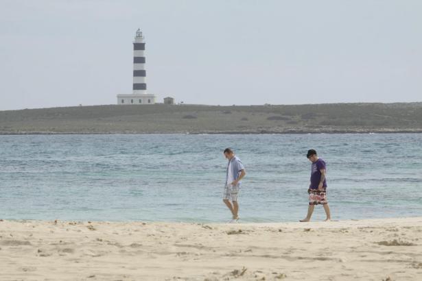 Winterurlauber auf Menorca.