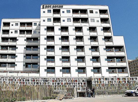 Das Vier-Sterne-plus-Hotel OD Port Portals, das oberhalb des Yachthafens in Portals Nous, Gemeinde Calvià.