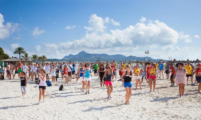 Bereits 2012 gab es eine Feier für die Touristen, die jedes Jahr nach Alcúdia kommen.