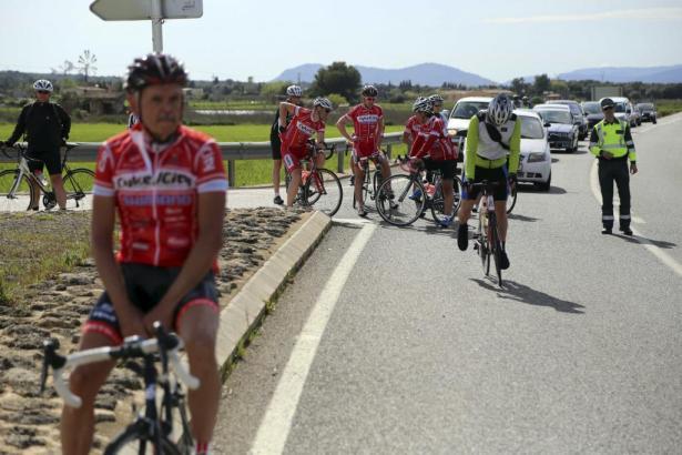 Das Bild zeigt einen der jüngsten Unfälle, in den Radfahrer verwickelt waren.