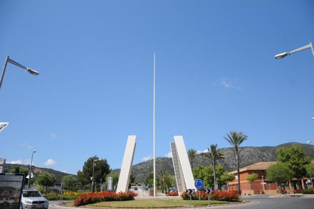 Fahnenklau: Einige Tage fehlte die Flagge am Mast in Palmanova