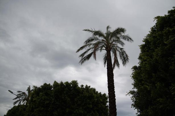 Grauer Himmel über Palma de Mallorca.