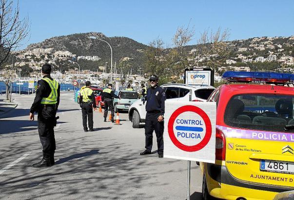Schwerpunktkontrollen wie hier am Ortseingang von Port d'Andratx sorgen in Residentenkreisen immer wieder für Aufregung