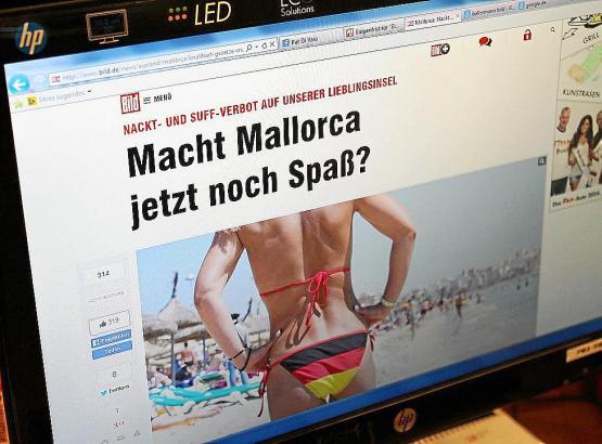 """Das Online-Portal von BILD fragt sich: """"Macht Mallorca jetzt noch Spaß?"""""""