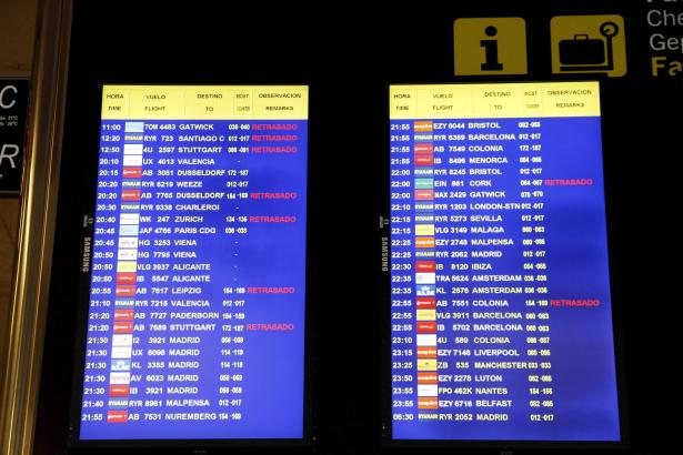 Viele Deutschlandflüge waren verspätet.
