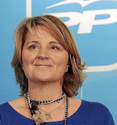 PALMA. POLITICA. Rosa  Estaràs , candidata del PP al Parlamento Europeo, durante su comparecencia
