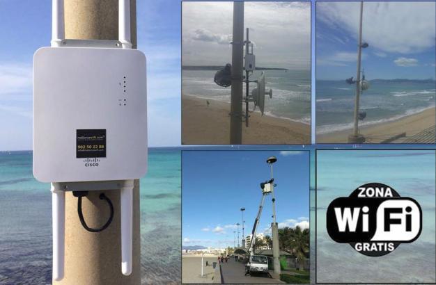 Die Strandpromenade an der Playa de Palma ist jetzt Wifi- beziehungsweise WLAN-tauglich.