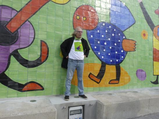 Der Künstler und sein Werk: Gustavo.