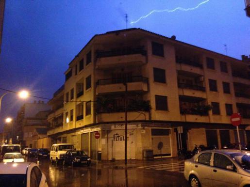 Blitz am Himmel über Palma.