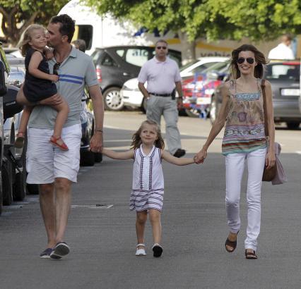 Die künftige Königsfamilie bei einem früheren Besuch auf Mallorca.
