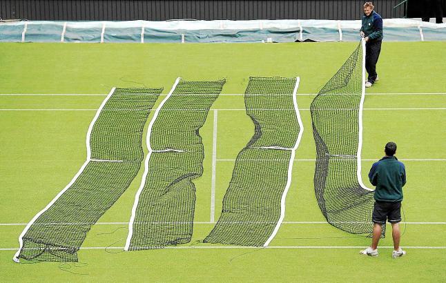 """Der """"Heilige Rasen"""" von Wimbledon. Auf solch einem Teppich soll auch in Palma gespielt werden."""