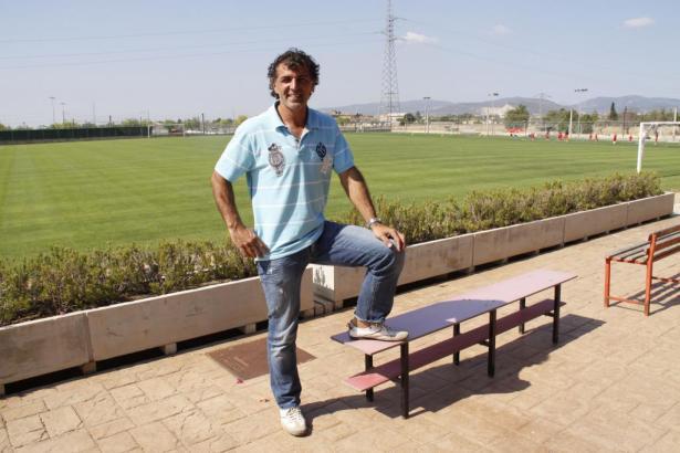 Miguel Ángel Nadal auf dem Trainingsgelände von Real Mallorca.