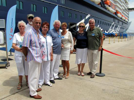 """Einige MM-Leser durften die """"Mein Schiff 3"""" im Hafen von Palma besichtigen."""