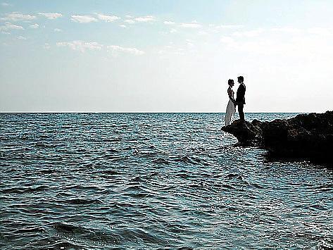 Das Ja-Wort im Angesicht des Meeres: Auf den Klippen bei Colònia de Sant Jordi.