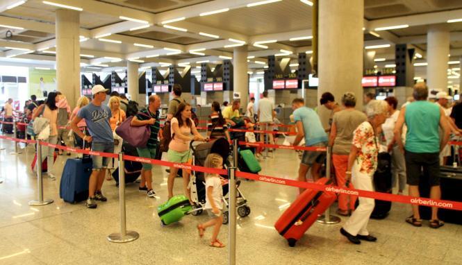 Hochbetrieb am Flughafen Palma.