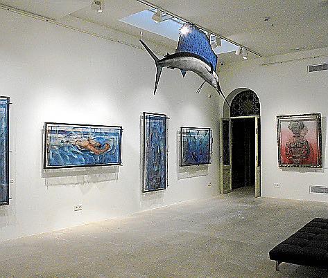 Die Ausstellung der Dänin Katrin Kirk zeigt maritime Drahtobjekte.