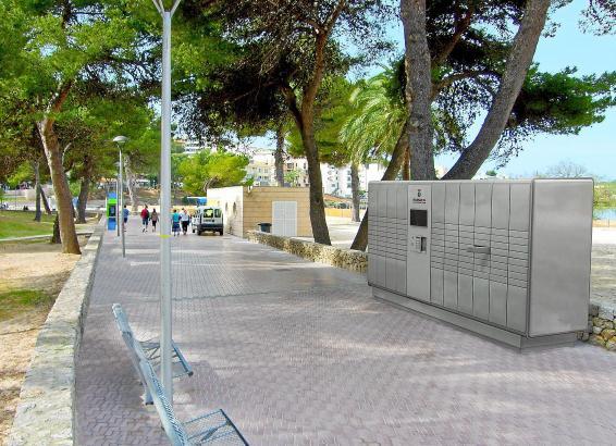 Die neuen Strandsafes in Santa Ponça im Südwesten Mallorcas.