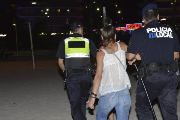 Drei Rumäninnen nahm die Polizei Samstagnacht in Magaluf fest.