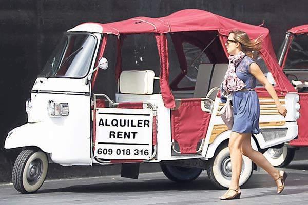 Nur als Mietwagen wollen Mallorcas Taxifahrer die Konkurrenz akzeptieren.