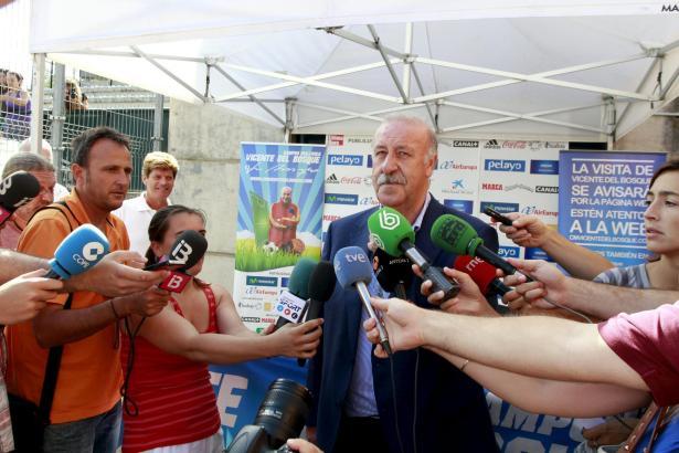 Nationaltrainer del Bosque war zurückhaltend wie immer.