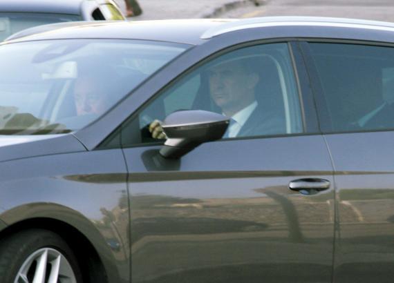 König Felipe VI. fuhr die Strecke vom Flughafen zum Palast selbst.